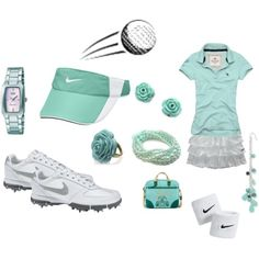 Teal Golf outfit  I seriously love this golf outfit!