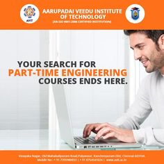At Aarupadai Veedu Institute of Technology, we offer en number of courses in UG and PG under a single umbrella.  We also have B.E, M.E and M.Tech courses in part-time.