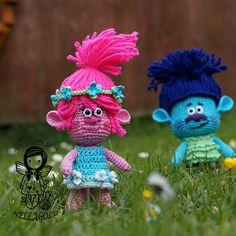 Crochet PATTERN Princess Poppy Crochet doll pattern Trolls