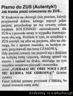 Prawdziwe pismo do ZUS-u!