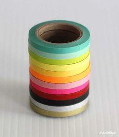 5mm Ultra Thin Washi Tape Chugoku (juego de 4 - cualquier mezcla) - Sólido - Cinta de Washi (Otros)