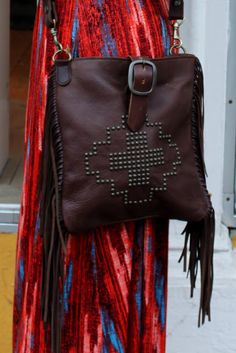 SL McFadin fringe and studded bag at Viva Diva