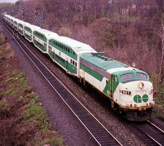 GO Transit (Greater Toronto Transit Authority), EMD Freight- and Passenger-hauling diesel-electric locomotive in Toronto, Ontario, Canada Electric Locomotive, Diesel Locomotive, Go Transit, Paper Train, Commuter Train, Train Pictures, Train Journey, Train Tracks, Train Station