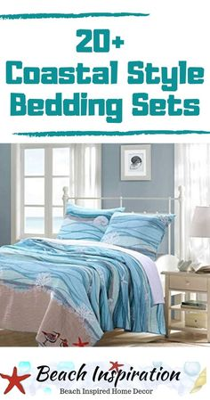 20 Coastal Bedding Sets For Beach Themed Bedroom Coastal Be. - 20 Coastal Bedding Sets For Beach Themed Bedroom Coastal Bedding Sets For Beac - Beach Bedding Sets, Coastal Bedding, Coastal Bedrooms, Comforter Sets, Shabby Chic Pink, Beach House Bedroom, Home Bedroom, Beach Cottage Decor, Coastal Decor