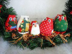Guirlanda corujas natalinas | M Artes | 368FD8 - Elo7