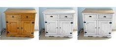 meuble blanc et plateau bois repeint - Recherche Google