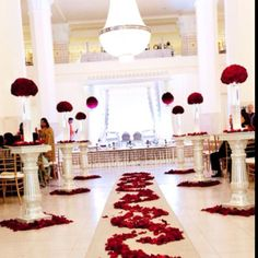 Indian Wedding Ceremony in Red at 200 Peachtree   #weddings #indianweddings