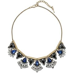 Monarch Statement Necklace   Chloe + Isabel ($118) ❤ liked on Polyvore featuring jewelry, necklaces, bib statement necklace, statement necklaces and chloe isabel jewelry