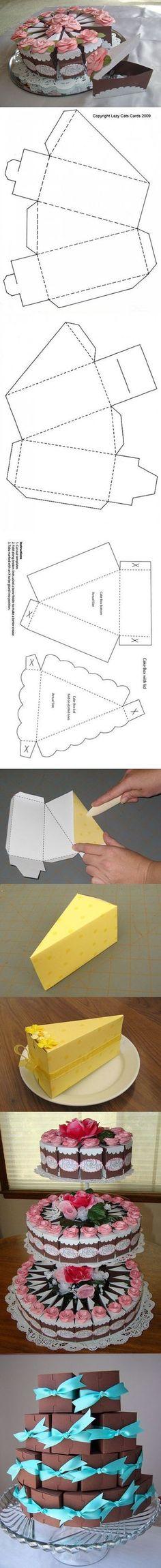 DIY Cake Gift Box   DIY