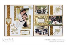 Scrapbook Paper Crafts, Scrapbooking Ideas, Wedding Scrapbook, 9 And 10, Layouts, Gallery Wall, Frame, Projects, Home Decor