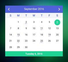 Freebie psd of the Calendar Widget. More PSD: 72pxdesigns