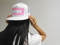 Women's Muscles and Mascara Hat. Snapback Cap. Muscles & Mascara Flat Bill Workout Snapback Hat. Retro Cap Flat Bill Hat. Cross Training. on Etsy, $24.99