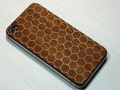 Iphone skin sticker honeycomb