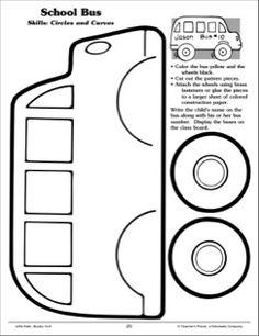 School Bus - Cutting Circles and Curves: Scissor Skills