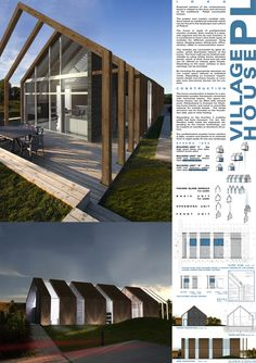Ing. Arch. Krystian Sulkowski - Ing. Arch. Katarzyna Niemiec Prefab Cabins, Prefab Homes, Timber Architecture, Architecture Design, Wexford House, Shed Homes, House Blueprints, Modern Barn, Roof Design