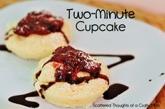 Scattered Thoughts of a Crafty Mom: Two-Minute Cupcake