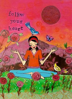 Print  Follow Your Heart by loriportka on Etsy, $25.00