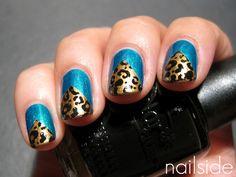 Leopard chevron by Nailside (http://nailside.blogspot.com/2011/10/leopard-chevrons.html)