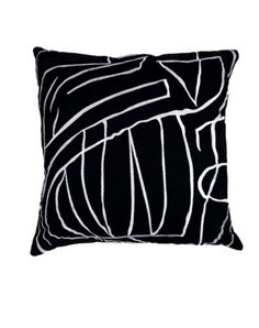 KELLY WEARSTLER | GRAFFITO PILLOW. Decorative pillow
