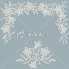 Lily garland Royalty Free Stock Vector Art Illustration
