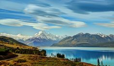 Lake New Zealand Mountains Scenery Pukaki