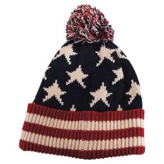 Something Special US Flag Knit Pom Beanie Hat Beanies e0e9ad95a06