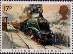 Famous Trains 17p Stamp (1985) Flying Scotsman