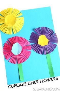 Practice scissor skills with this cupcake liner flower craft