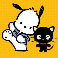 Pochacco and Chococat just hanging out. Funny times together!