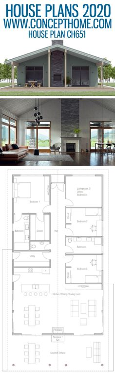 Tiny House Plans 564709240781507611 - House Plan, Home Plan, Floor Plans Source by concepthomes Dream House Plans, Small House Plans, House Floor Plans, Plans Architecture, Modern Architecture House, Architecture Design, Small House Layout, House Layouts, Home Design Plans