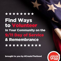 September 11 is right around the corner, how will you give back to your community?