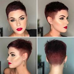 Icy Short Pixie Cut - 60 Cute Short Pixie Haircuts – Femininity and Practicality - The Trending Hairstyle Prom Hairstyles For Short Hair, Short Pixie Haircuts, Pixie Hairstyles, Short Hair Cuts, Short Hair Styles, Very Short Pixie Cuts, Hairstyles Videos, School Hairstyles, Formal Hairstyles
