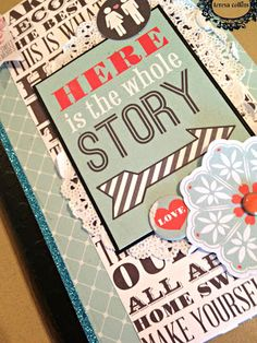 TERESA COLLINS DESIGN TEAM: Family Stories Mini Album by @Yvonne Blair