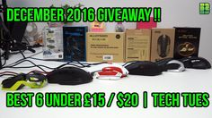 #GamingMice #GamingMouse #Review #GamingHardware #TechTues  This is part of my Tech Tuesday Videos where each Tuesday I release videos Reviews Unboxing and Giving my first impressions on how I find them. This week is a Giveaway for December 2016.  The Best Gaming Mouse for under $20 or 15 are as follows in order of the video :-  1. DLAND ZELOTES (T-80) Professional Gaming Mouse @ http://ift.tt/2hCoYH7  2. Mad Catz RAT1 Wired Gaming Mouse @ http://ift.tt/2gy2UIx  3. GEEZER Gaming Mouse…