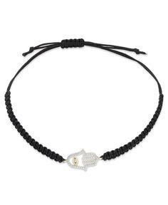 YellOra Diamond Hamsa Parachute Cord Bracelet in YellOra (1/6 ct. t.w.)