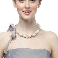 Diy Necklaces : DIY Pearl Ribbon Necklaces
