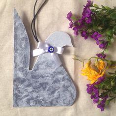 Wood painting wood object blue bird ahsap boyama dekoratif obje handmade design mavi kus
