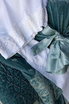 My absolute reason, for starting this board ~ Beautiful, Bella Notte Linens in SeaGlass ~❥