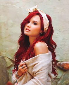 Demi Lovato hair color! Red freaking love it!!! :) When did she have red hair? I like it better than the blond but not better than her natural black.
