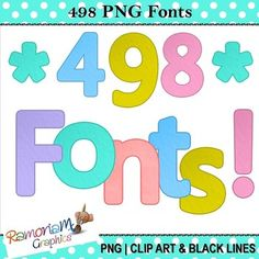 50% OFF till 14.6.15! Lightly textured, bright and colorful Font Clip art. 492 Upper/Lower case letters, numbers and symbols in 6 beautiful colors. Each image is in PNG format & 300dpi.