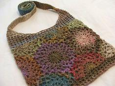 Sunflower purse w/Noro. Pattern info on Ravelry.