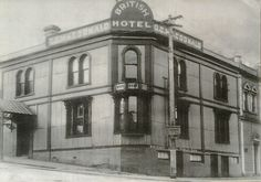 British Hotel early Lyttelton Christchurch New Zealand, Main Street, Maine, British, Lost, Photos, Pictures