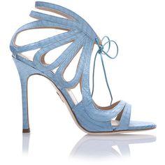 Chelsea Paris Ada Heels (9.710 ARS) ❤ liked on Polyvore featuring shoes, pumps, heels, sandals, footwear, percata, lace up pumps, aqua pumps, open toe pumps and lace up stilettos