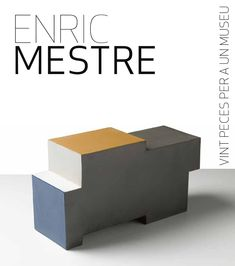 "Catálogo de la exosición ""Enric Mestre; vint peçes per a un museu"" que tuvo lugar en las tres capitales de la Comunidad Valenciana; Valencia, Castellón y Alicante. Enric Mestre; escultor, ceramista y pintor de Valencia - España Books from the exosición ""Enric Mestre, twenty pieces for a museum"" that took place in the three capitals of Valencia, Valencia, Castellón and Alicante. Enric Mestre, sculptor, ceramicist and painter from Valencia - Spain"