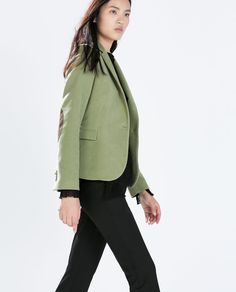 Image 3 of BLAZER WITH ELBOW PATCHES from Zara