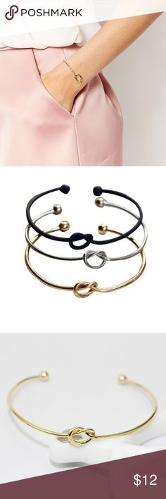 Knot bracelet  Knot bracelet, super fashion! gold and silver. Jewelry Bracelets