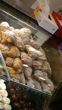 Fresh tray full of lobster tail pastry at Carlo's