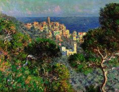 Claude Monet's View of Bordighera, 1884. From Monet & Architecture at the National Gallery, London, thru 2018/07/29.