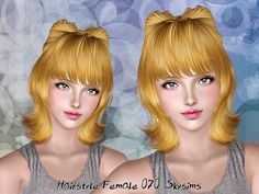 Female Hair by Skysims  http://www.thesimsresource.com/downloads/1179345
