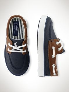 Sander Boat Shoe - Toddler Toddler 4-10 - RalphLauren.com OMG - Daws has to have these. Wish they were like $10. Lol
